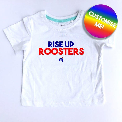 Rise up Roosters - Personalised boy's tee
