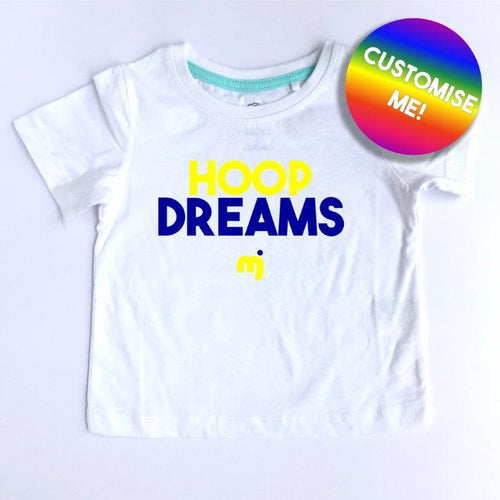 Hoop dreams (Warriors) - Personalised boy's tee