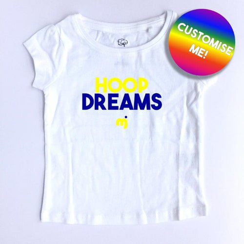 Hoop dreams (Warriors) - Personalised girl's tee