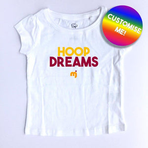 Hoop dreams (Cavs) - Personalised girl's tee