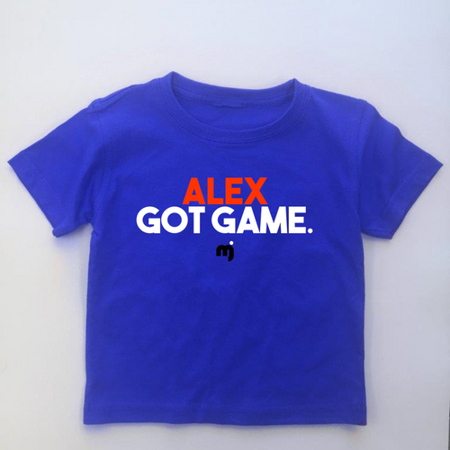 Got Game - Personalised boy's tee
