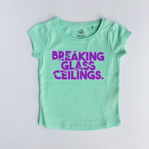 Breaking glass ceilings - Girl's tee