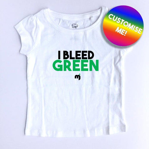 Bleed green - Personalised girl's tee
