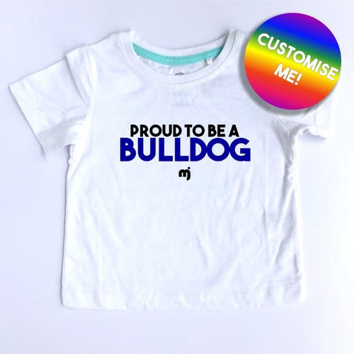 Proud to be a Bulldog - Personalised boy's tee