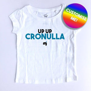 Up up Cronulla - Personalised girl's tee
