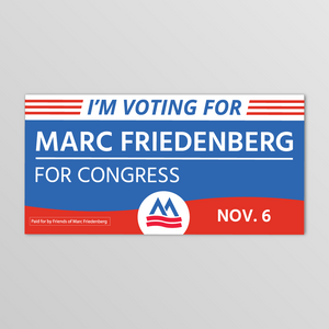 I'm Voting for Marc Bumper Sticker
