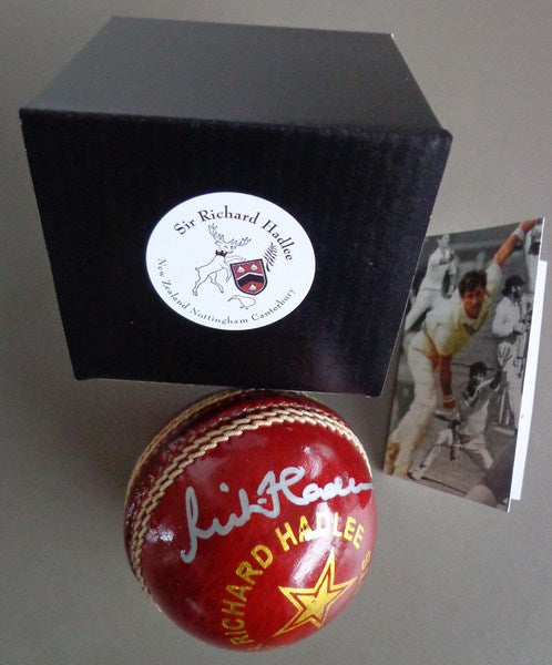 Signed cricket ball