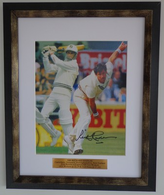Sir Richard Hadlee Double Action - Batting/Bowling print