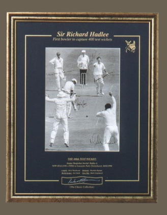 The 400th Test Wicket print