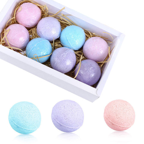 60g/Pc Organic Fizzy Bath Bombs Set Handmade SPA Stress Relief Exfoliating