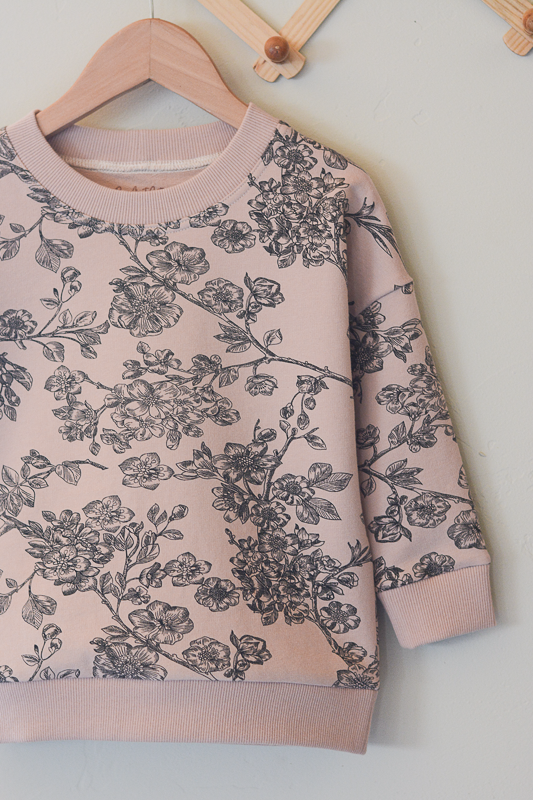 Organic Blush Vintage Floral Pullover(multiple sizes)
