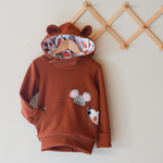Organic Big Hungry Bear Grow With Me Hoodie