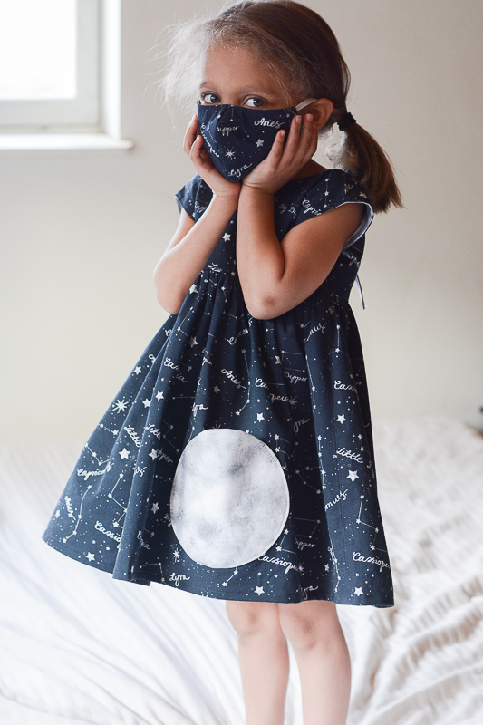 Constellations Dress with Moon Pocket