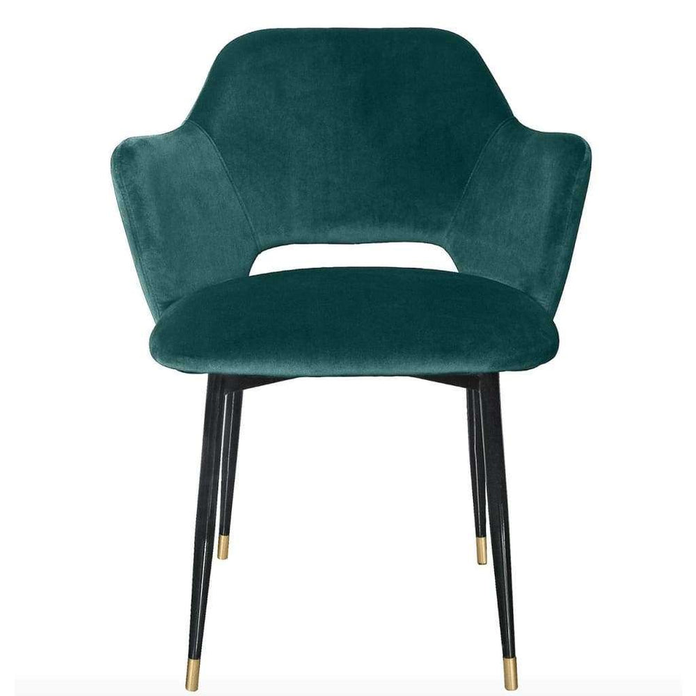 Fauteuil velours Andrew