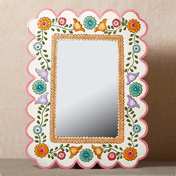 mexican painted mirrors market import