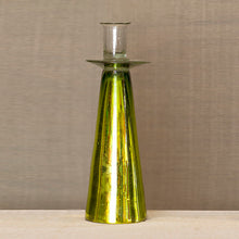 Mirrored Glass Candlestick