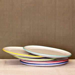 Coloured Rim Flat Plate