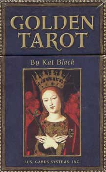 Golden Tarot deck and book by Kat Black