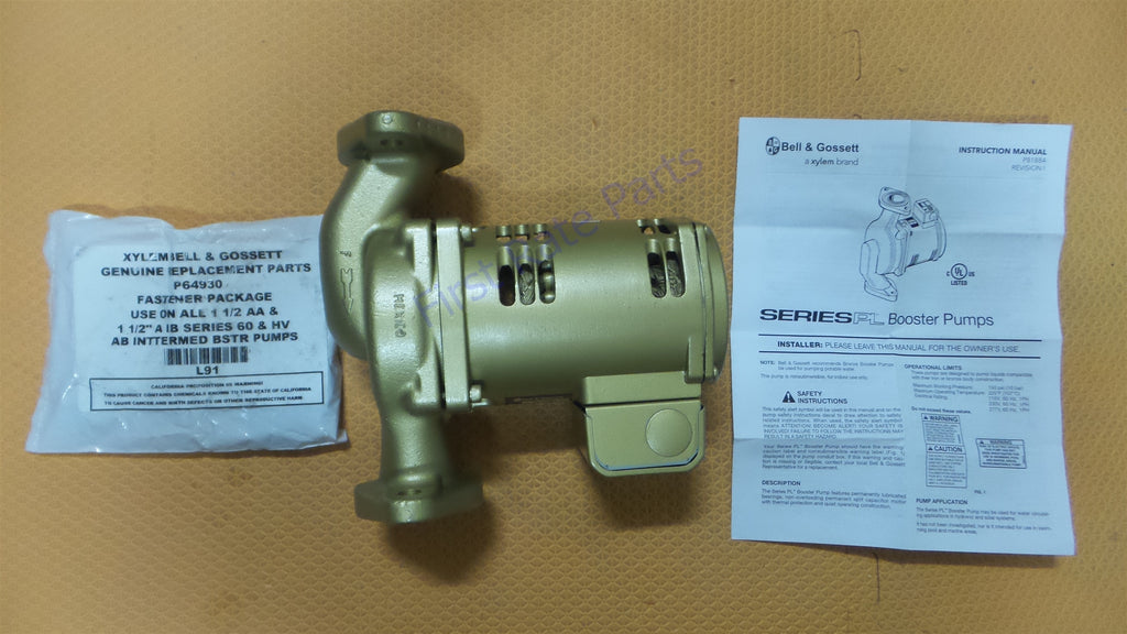 Bell & Gossett 1BL017LF Pump PL-50B Circulator 1/6 HP Circulating