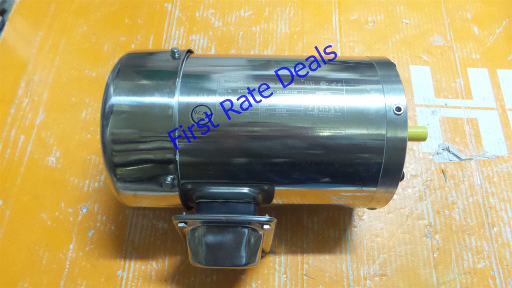 DAYTON 6WY59 Washdown Motor 3Ph TEFC 1-1/2 HP 1750 RPM Food Processing