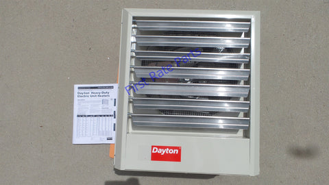 Dayton 2YU72 Electric Unit Heater 15kW Wall Ceiling 3PH 208V 240V Shop