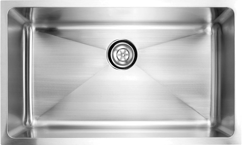 "Fluid USR3219 Arc Undermount Kitchen Sink Single Bowl Stainless 32"" 19"
