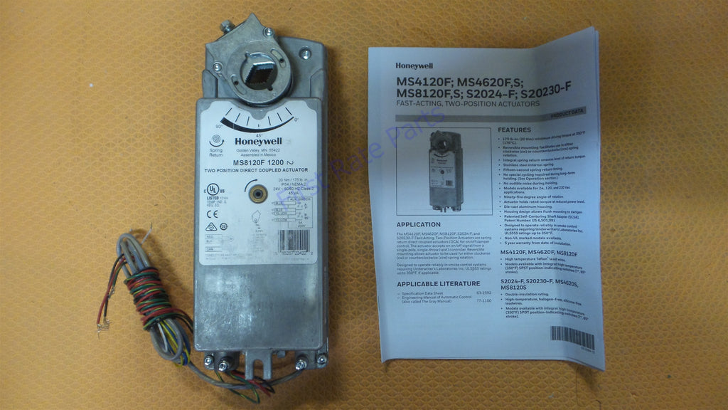 Honeywell MS8120F1200 Spring Return Damper Actuator Smoke Control Fire