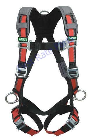 MSA 10105939 Evotech Harness Safety XLG X-Large Back Hip Chest D-Ring
