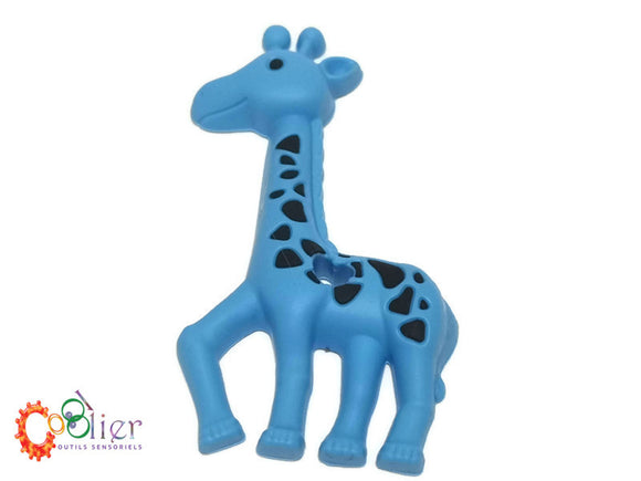 Girafe tachetée, jouet de dentition, teething toy giraffe with dots