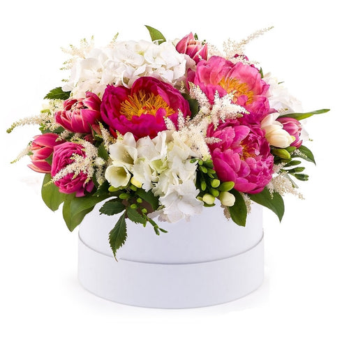 Pink Posh: Pink Peonies and White flowers