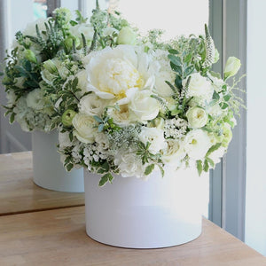 Perfection: White Roses and White Seasonal Flowers