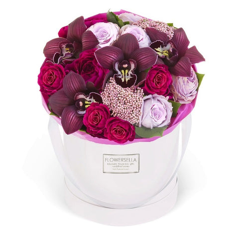 Luxury Rose and Orchid hat box