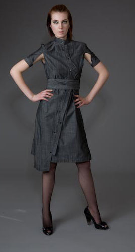 Classic Half Sleeve Obi Belt Shirtdress