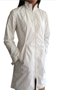 Water Repellant Gotham Jacket in White
