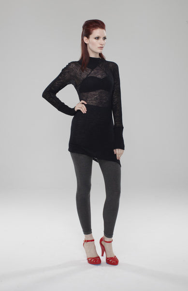 Asymmetrical Mock Tunic Top