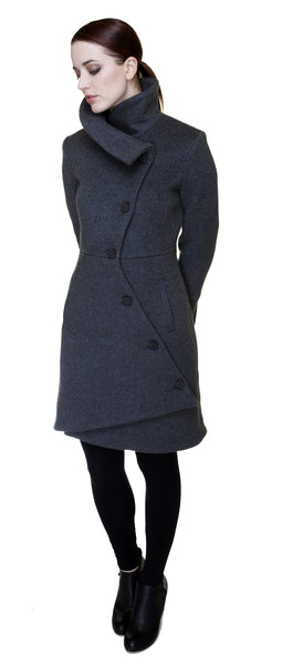Swerve Coat Charcoal Grey