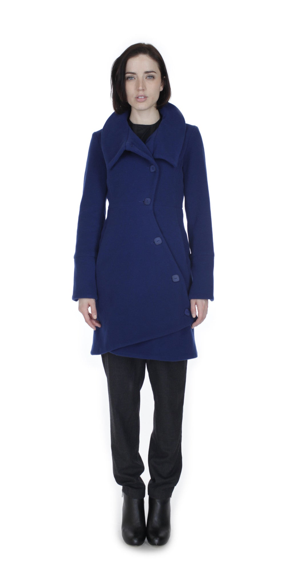 Swerve Coat Royal Blue
