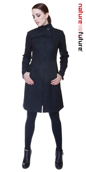 Mock Zip Coat