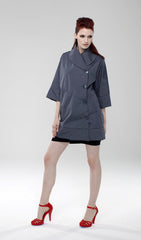 Water Repellant Swing Coat/ Grey