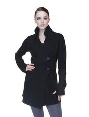 Classic Double Collar Jacket in Cotton Spandex