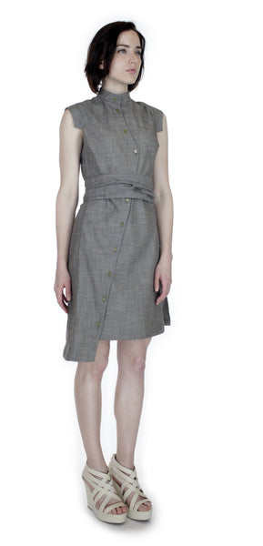Classic Obi belt Shirtdress/  Cotton