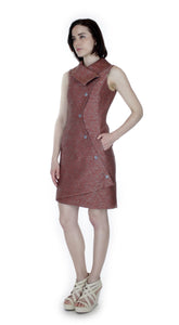 Swerve Vest Dress / Rust Pattern