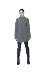 Mock Military Button Front Coat