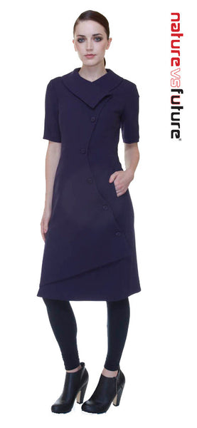 Swerve Dress w/ Sleeves / Eggplant