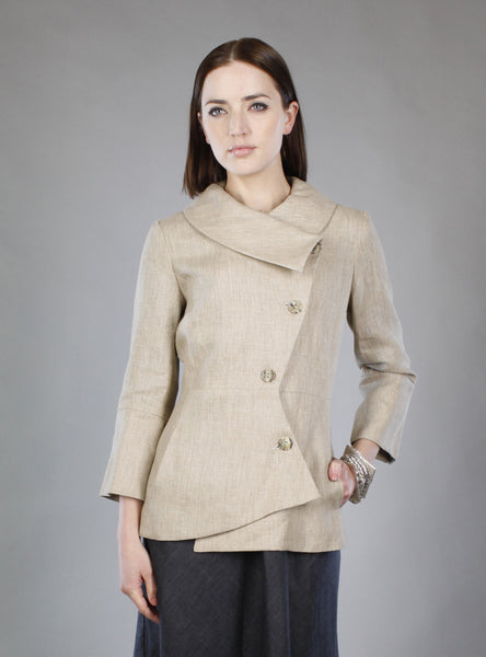 Swerve 3/4 Sleeve Blazer/Jacket in Linen or Cotton