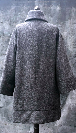 Classic Swing Coat/ Charcoal Alpaca