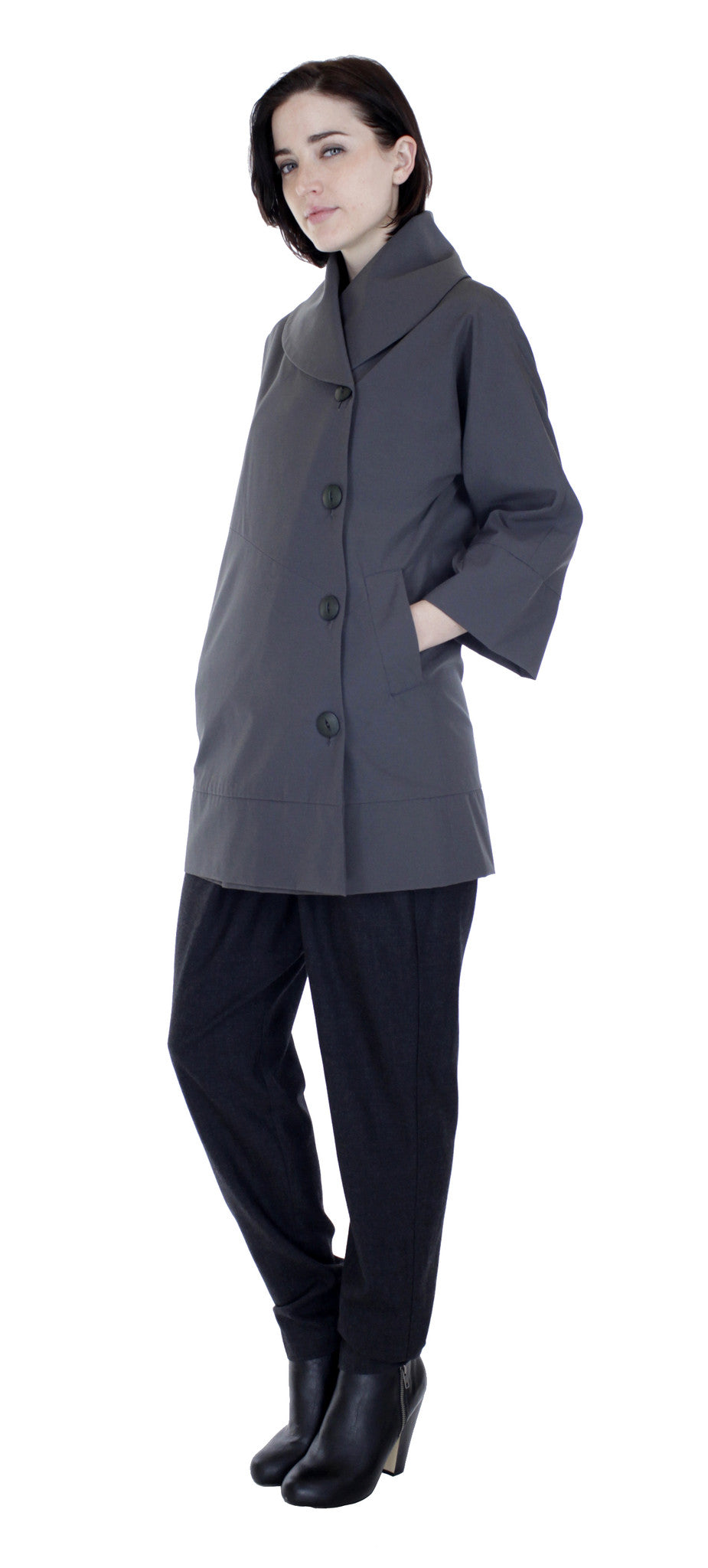 Water Repellant Swing Coat