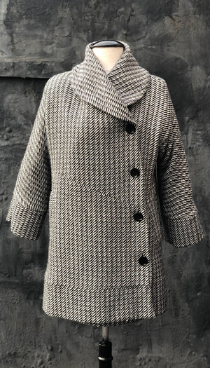 Classic Swing Coat/ Herringbone