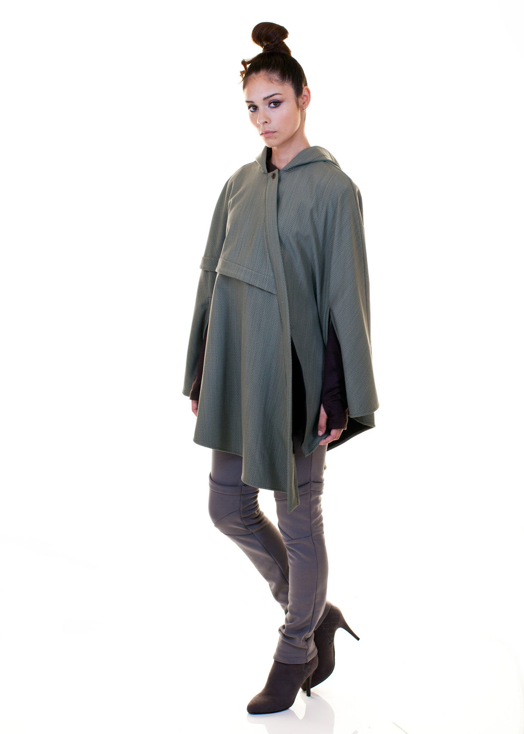 Asymmetrical Waterproof Cape