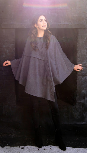 Asymmetrical Cape w/Hood